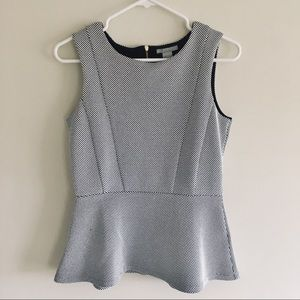 Black and white Peplum top from H&M - small